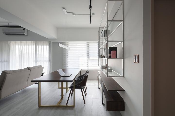 台中室內設計案例,三房改兩房的北屯簡約宅,打造人貓生活美居開放工作室作品圖