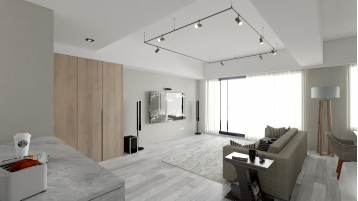 台中室內設計案例,三房改兩房的北屯簡約宅,打造人貓生活美居的3D擬真空間圖