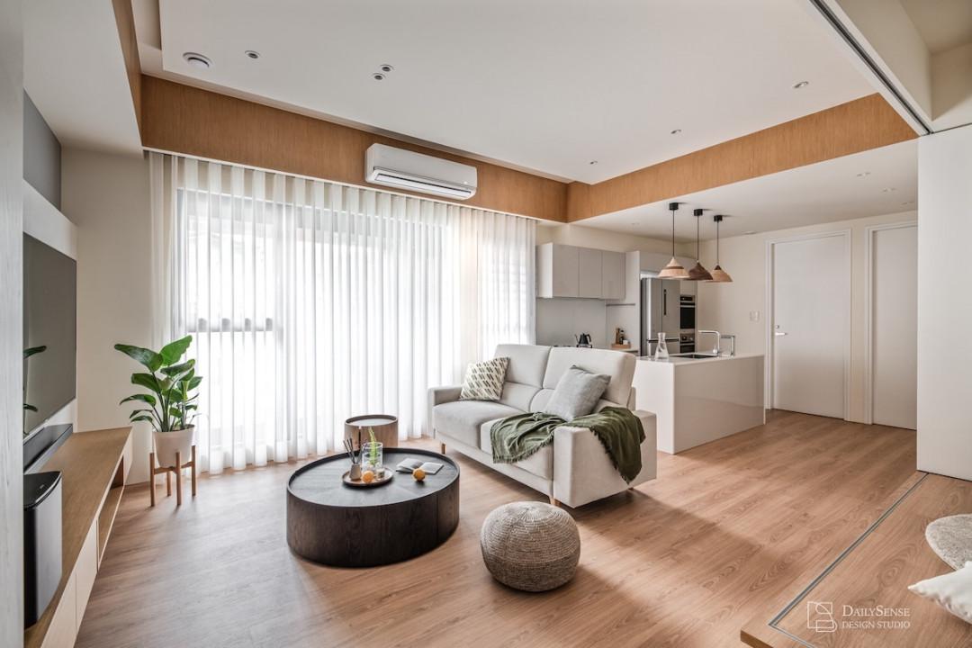 台北室內設計,25 坪無印美宅,滿足收納與寬敞的居所設計-每感日常空間設計-PULO裝潢平台