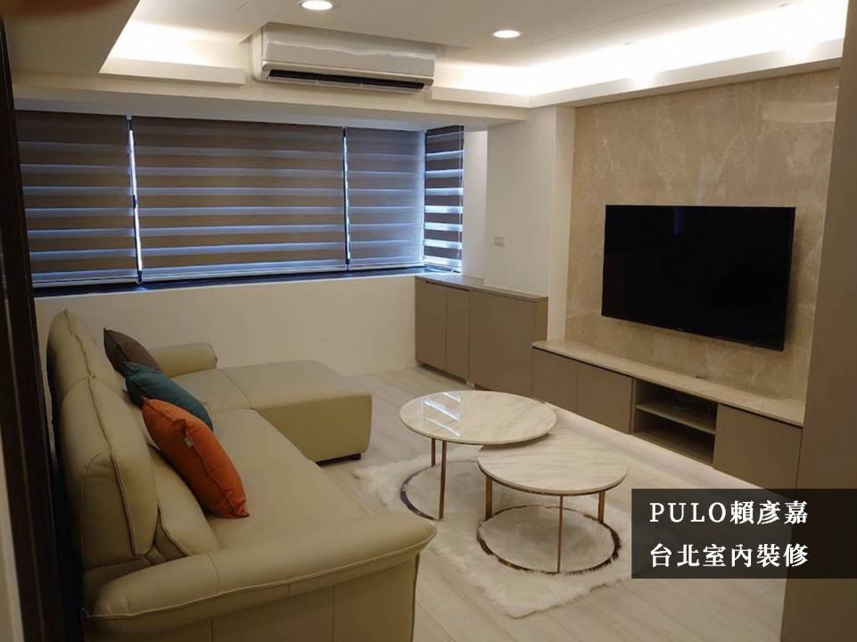 37 款電視牆面裝潢實例-小客廳&大理石感設計-PULO裝潢平台