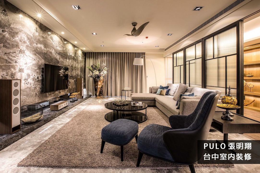 客廳裝潢實例, 60款超實用大理石高雅客廳風格!